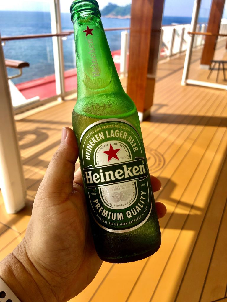 beer onboard cruise ship